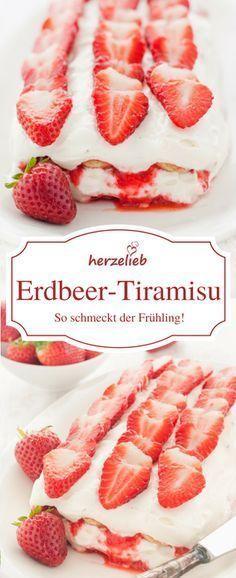 Erdbeer-Tiramisu - Dessert Rezept für den Frühling!