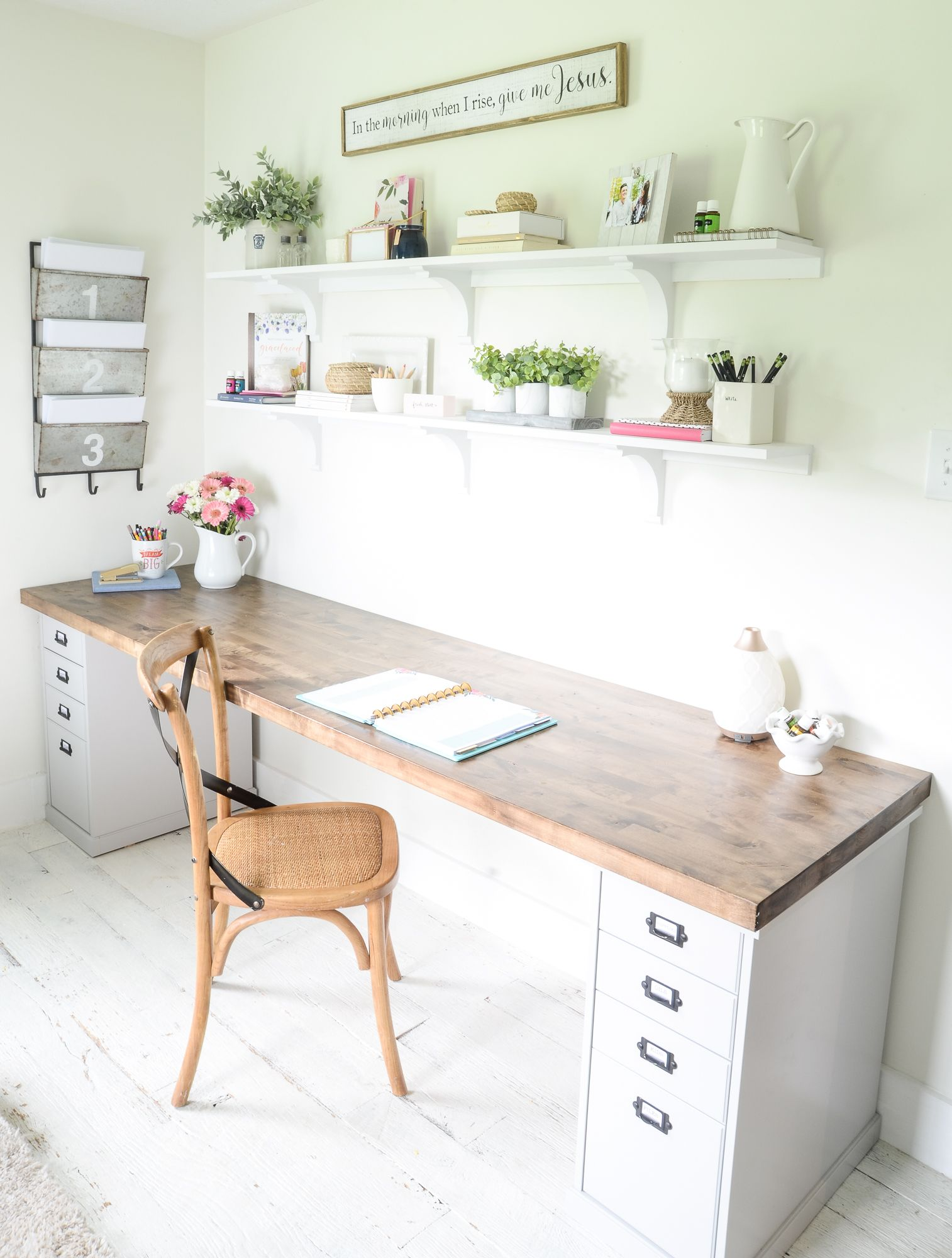diy butcher block desk for my home office my decorating style rh pinterest com