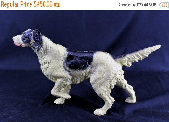 On Sale Rare Vintage Cast Iron Pointer Hunting Dog Door Stop Circa