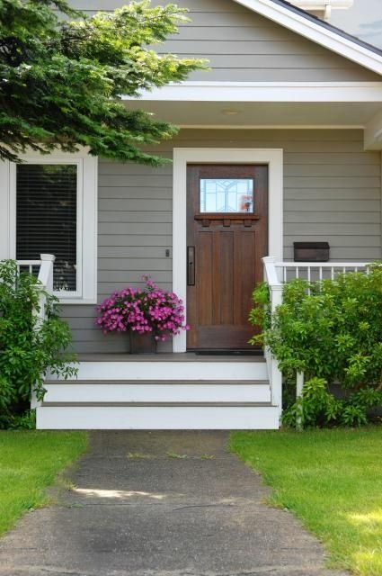 House With Off Center Front Stairs Google Search Front Porch