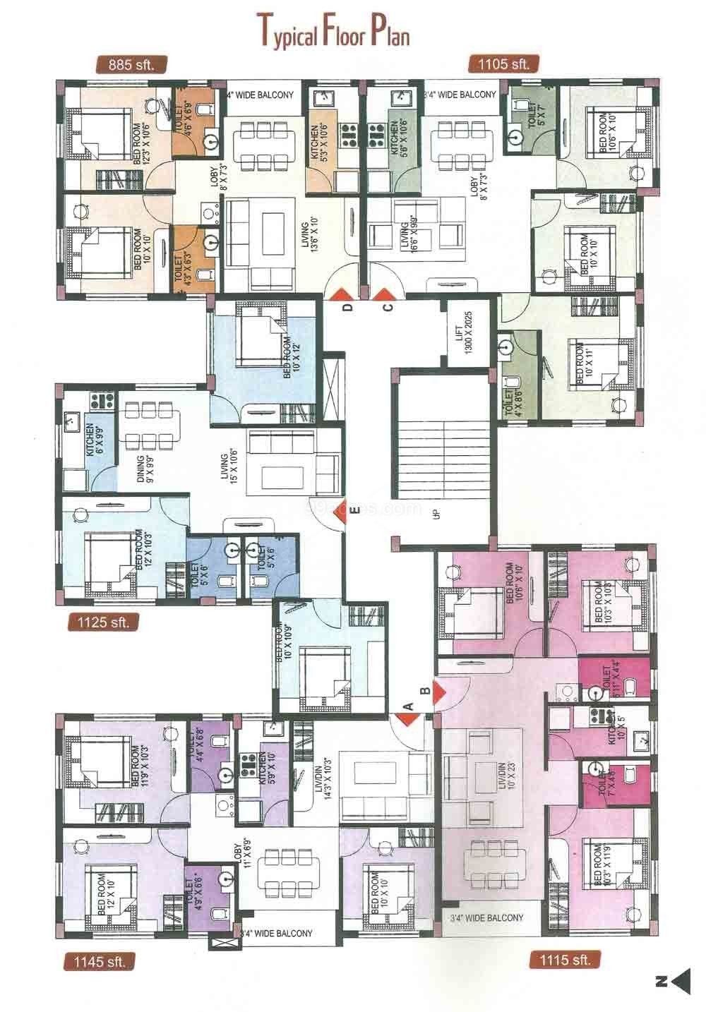 Flats Designs And Floor Plans Luxamcc Org