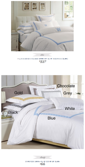 Overstock Bedroom Sets: Williams Sonoma Classic Greek-Key Bedding