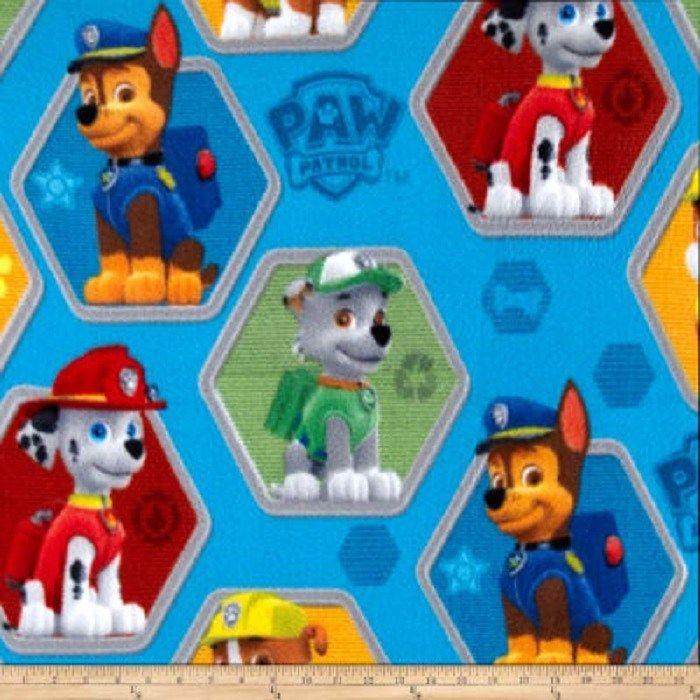 Paw Patrol Pup Rescue Blue FLEECE Fabric 1 YARD - Paw patrol party decorations, Paw patrol pups, Fleece crafts, Fabric sale, Fleece fabric, Paw patrol - Paw Patrol Pup Rescue Blue FLEECE Fabric is designed by Nickelodeon for Springs Creative   This FLEECE fabric is 100% Polyester and is approximately 59 inches (150 cms) wide   It is perfect for blankets, jackets, hats, mittens, scarves, slippers, pillows, vests, jumpers  and much more    This fabric is sold in  1 yard increments if you would like 1 yard please select 1, 2 yards select  2 and so on If you do not wish to purchase in 1 yard (90cm) increments, We can cut your fabric to any length required   Please email admin@jrsfabrics com  with your request and a  special order will be created  for you   (Full width of fabric, subject to print suitability and minimum 1 yard (90cm)  purchase) While every care has been taken to ensure the accuracy of the colours depicted in our images, please be aware that due to monitor resolution, lighting etc  it is almost impossible to represent colour to 100% accuracy