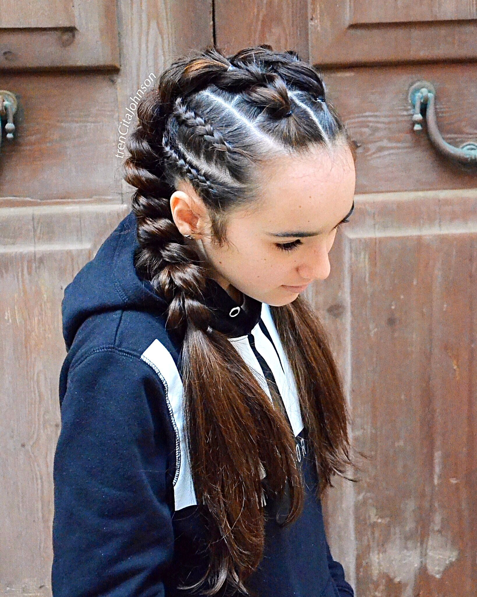 Pull Through Braids As Pigtails With Cornrows Mit Bildern