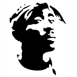 Tupac Shakur Stencil Art Vector File Stencil Art Tupac Art Silhouette Art