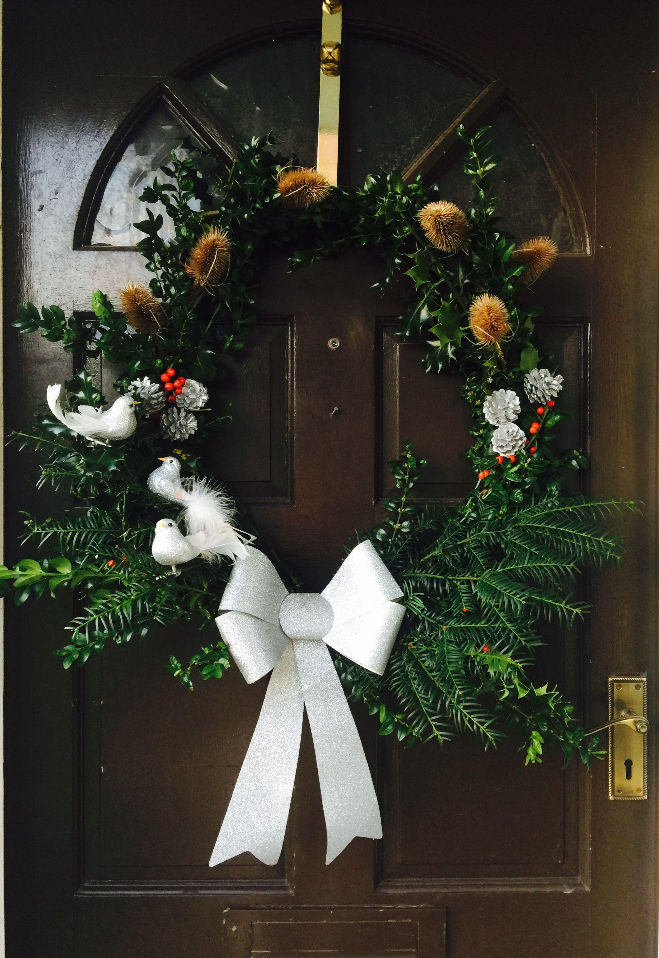 Yew branch Christmas wreath Christmas WreathsChristmas
