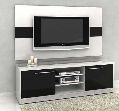 rack mil o 1 80m com painel egito p tv led lcd mira. Black Bedroom Furniture Sets. Home Design Ideas