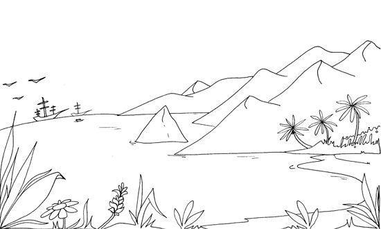Imagenes De Dibujos Para Pintar E Imprimir De Paisajes Naturales