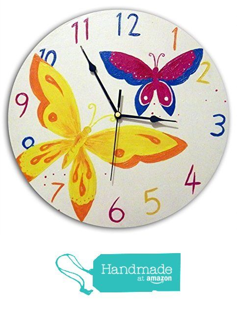 Childrenu0027s Butterfly Clock. Nursery Wall Clock. Kids Bedroom Decor From  With Hugs And Kisses
