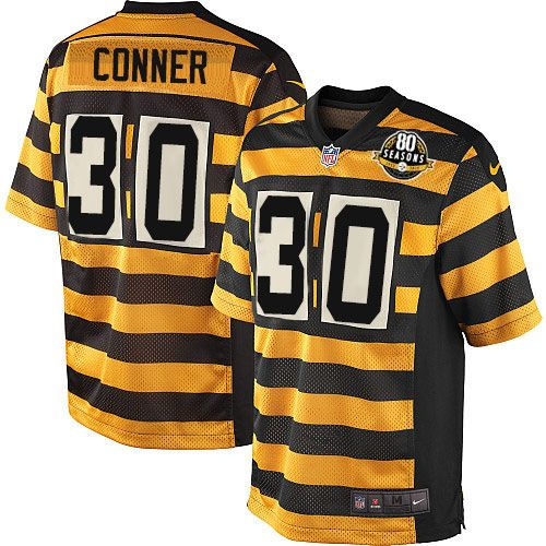 2e70af286 Youth Nike Pittsburgh Steelers #30 James Conner Limited Yellow/Black  Alternate 80TH Anniversary Throwback NFL Jersey