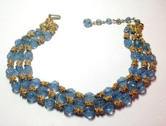 CROWN TRIFARI 1959 Mediterranean Blue Crackle di FairVintageBijoux