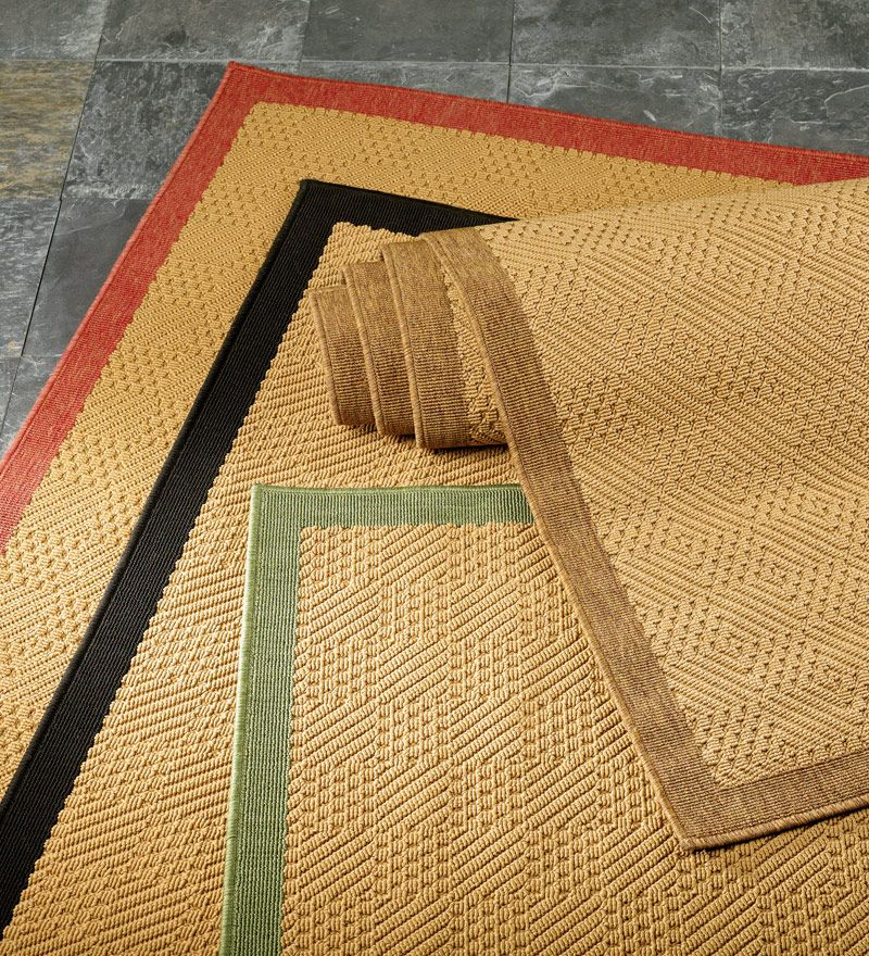 Outdoor Pool Area Rugs: Indoor/Outdoor Stain-Resistant Textured Lanai Rug With