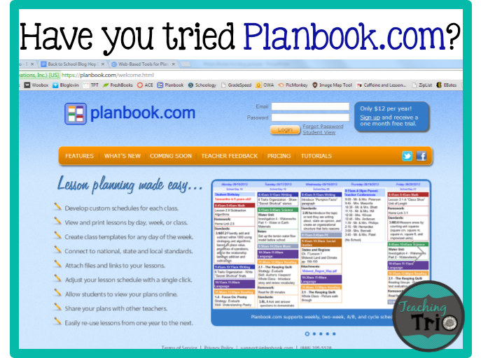 Chalk Apples 10 Reasons To Love Planbook Com Online Lesson Planner Teaching Teaching Plan
