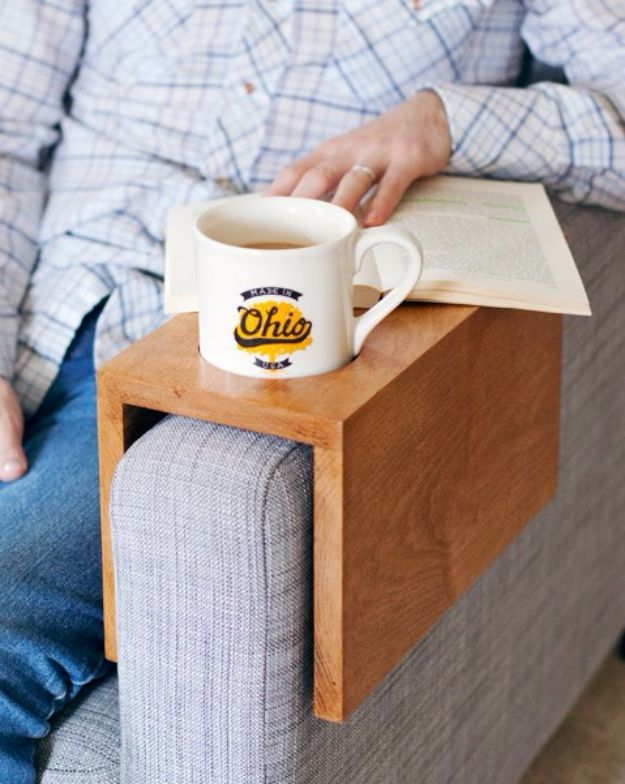 35 creatively thoughtful diy mothers day gifts cup holders sons creative diy mothers day gifts ideas wooden sofa sleeve with cup holder thoughtful homemade gifts for mom handmade ideas from daughter son kids solutioingenieria Image collections