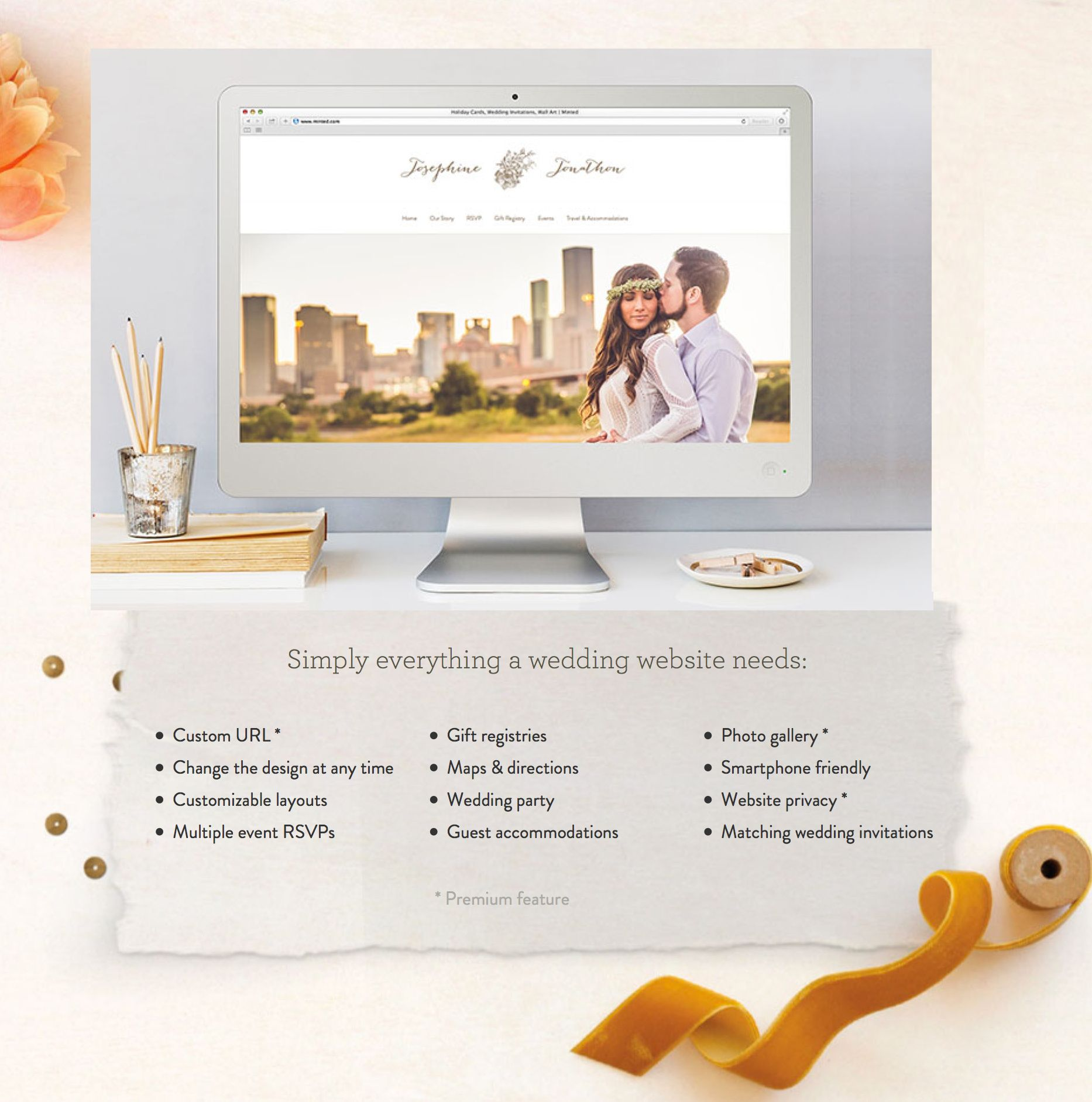 Minted Wedding Website.Minted Has Super Cute Free Wedding Websites That Match Your Wedding
