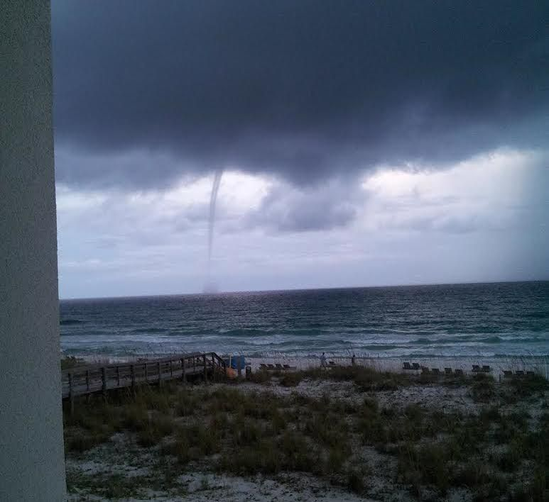 waterspout in Pensacola, FL