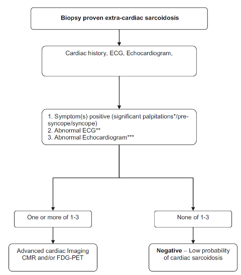 Cardiac Sarcoidosis Flowchart Google Search Echocardiogram Heart Rhythms Cardiac