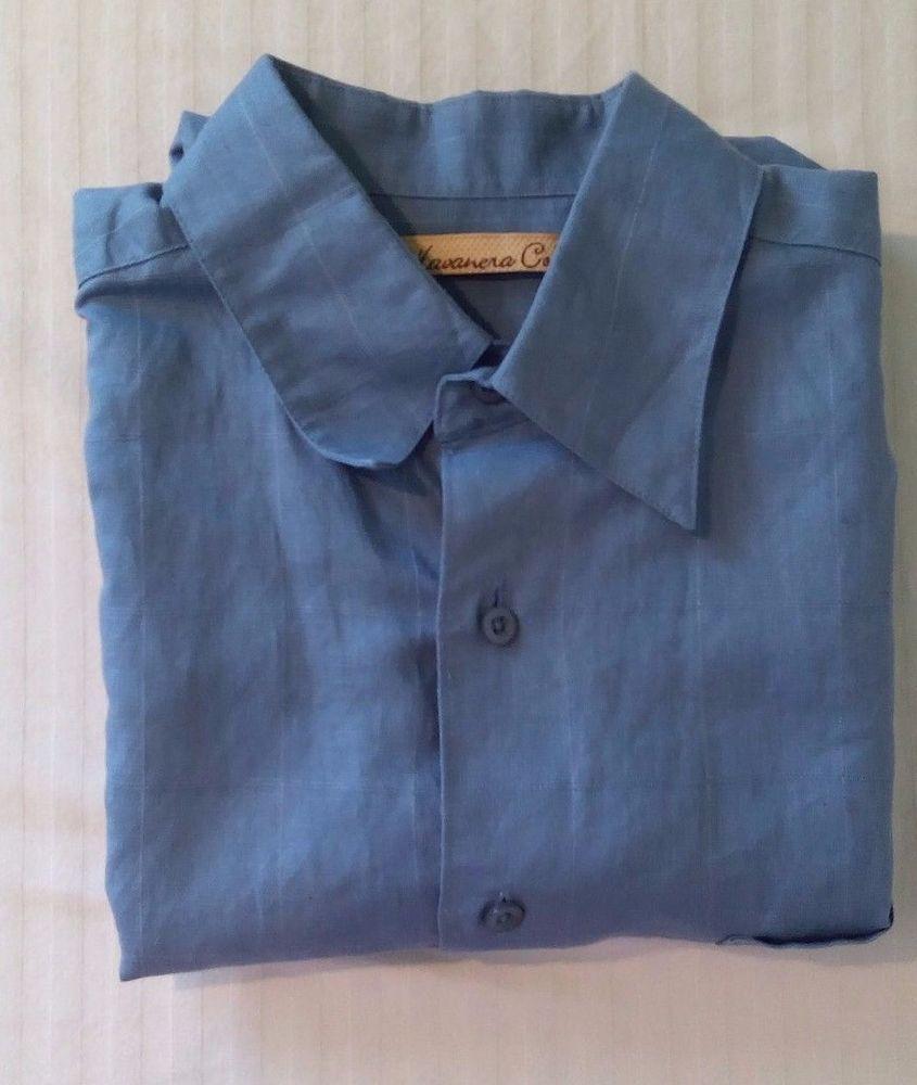 The hanvanera co medium blue plaid menus short sleeve dress shirt