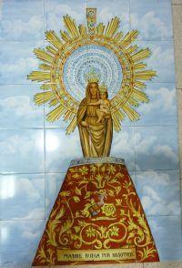 Virgen del pilar imaneges religiosas en azulejos - Azulejos el pilar ...