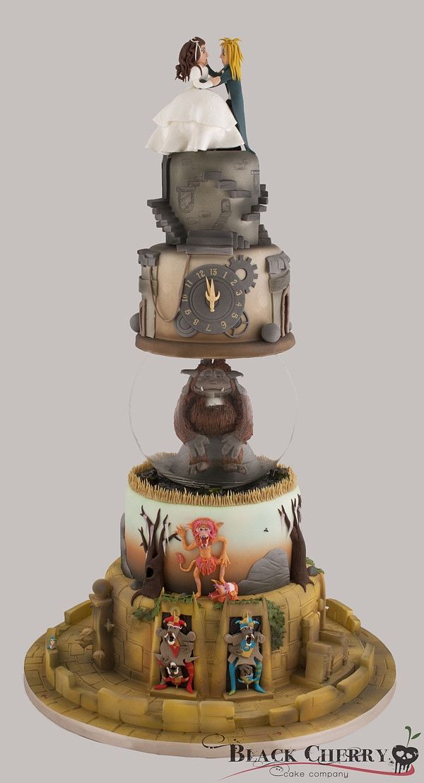 Labyrinth Themed Wedding Cake Let Them Have Cake Pinterest