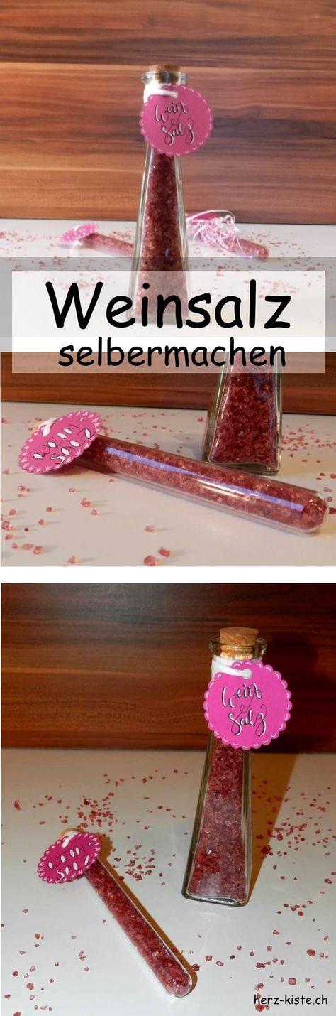 Rezept Weinsalz Selbermachen Essen Pinterest Geschenke