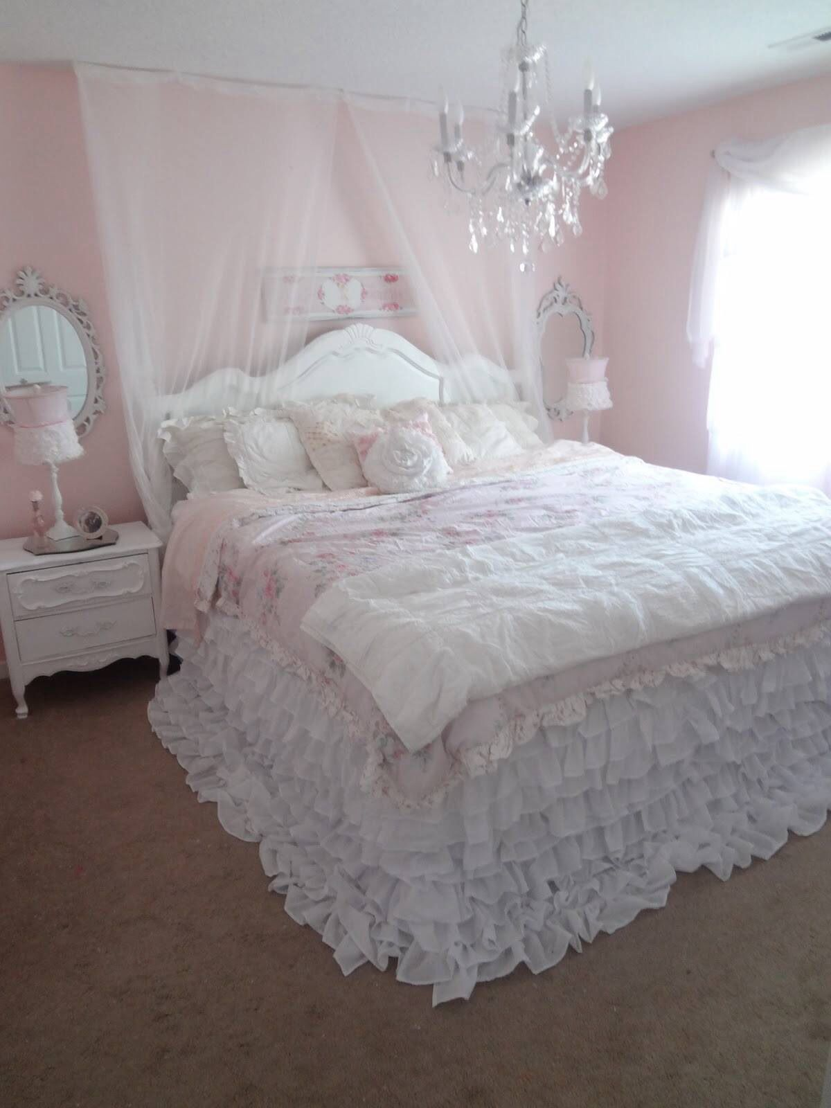 Cozy ruffled bed. Peaceful. | For the Home | Pinterest ...