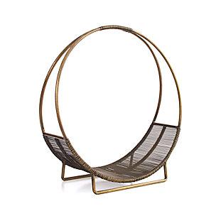 Antiqued Brass Log Holder Reviews Crate And Barrel