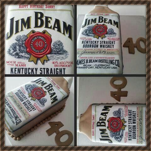 Jim Beam Cake 40th Birthday Cake Mens 40th Birthday