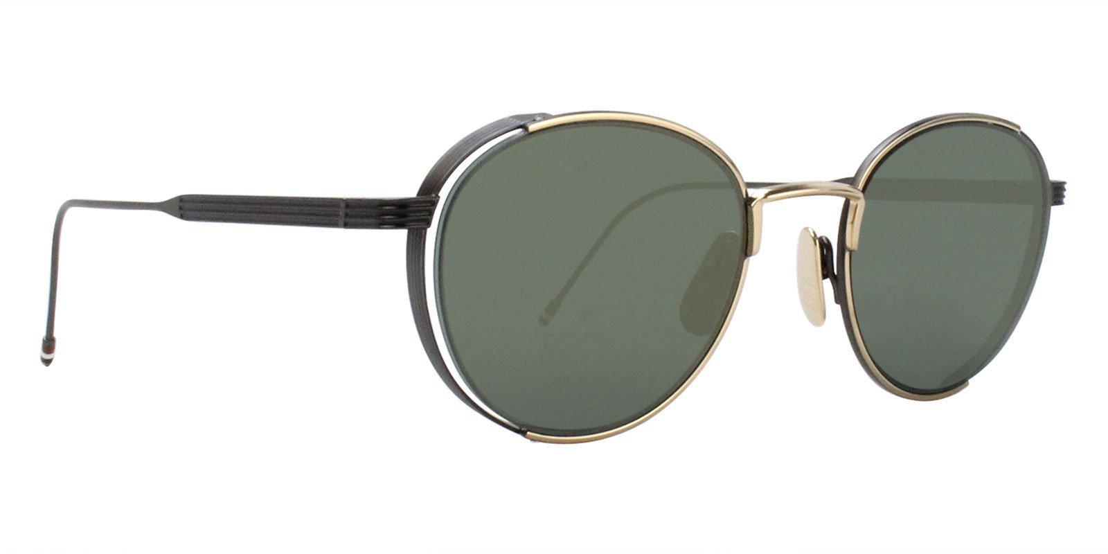 5361793ee48b Thom Browne - TB-106-D Gold Black - Green-sunglasses-Designer Eyes ...