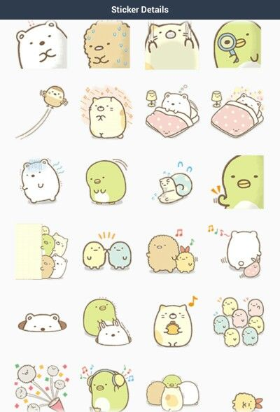 Sumikko Gurashi Myriad Of Feelings Line Stickers 2 Cute Stickers Aesthetic Stickers Molang Stickers