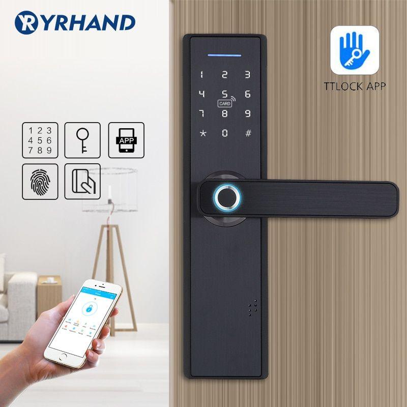 Wifi App Electronic Door Lock Intelligent Biometric Door Locks Fingerprint Smart Wifi Digital Keyless Door Lock Di 2020 Arsitektur Rumah Rumah Arsitektur