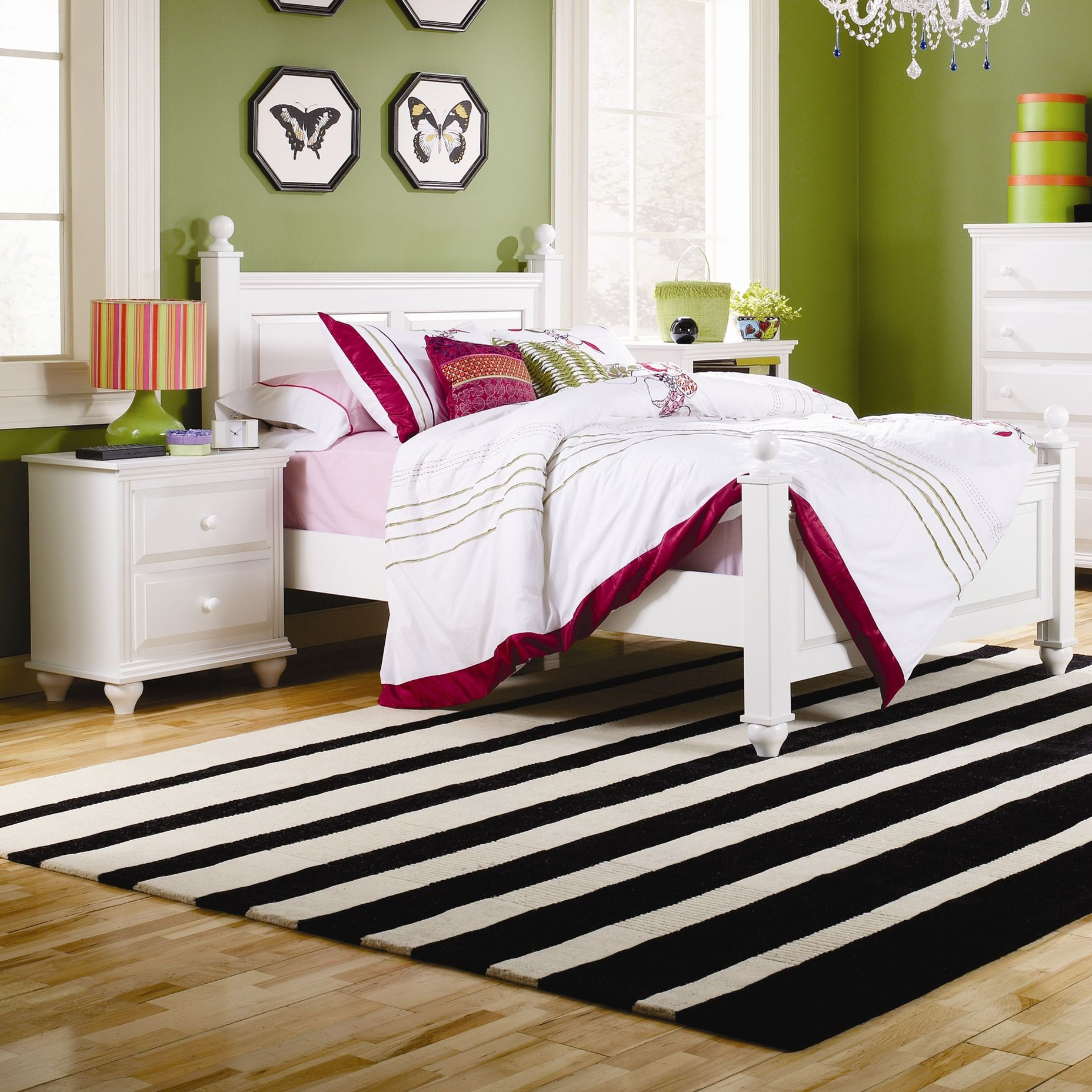 Girls Room. Love the blend of black Lime and Magenta ...