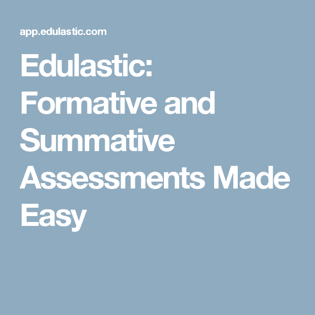 Edulastic Formative And Summative Assessments Made Easy  Test