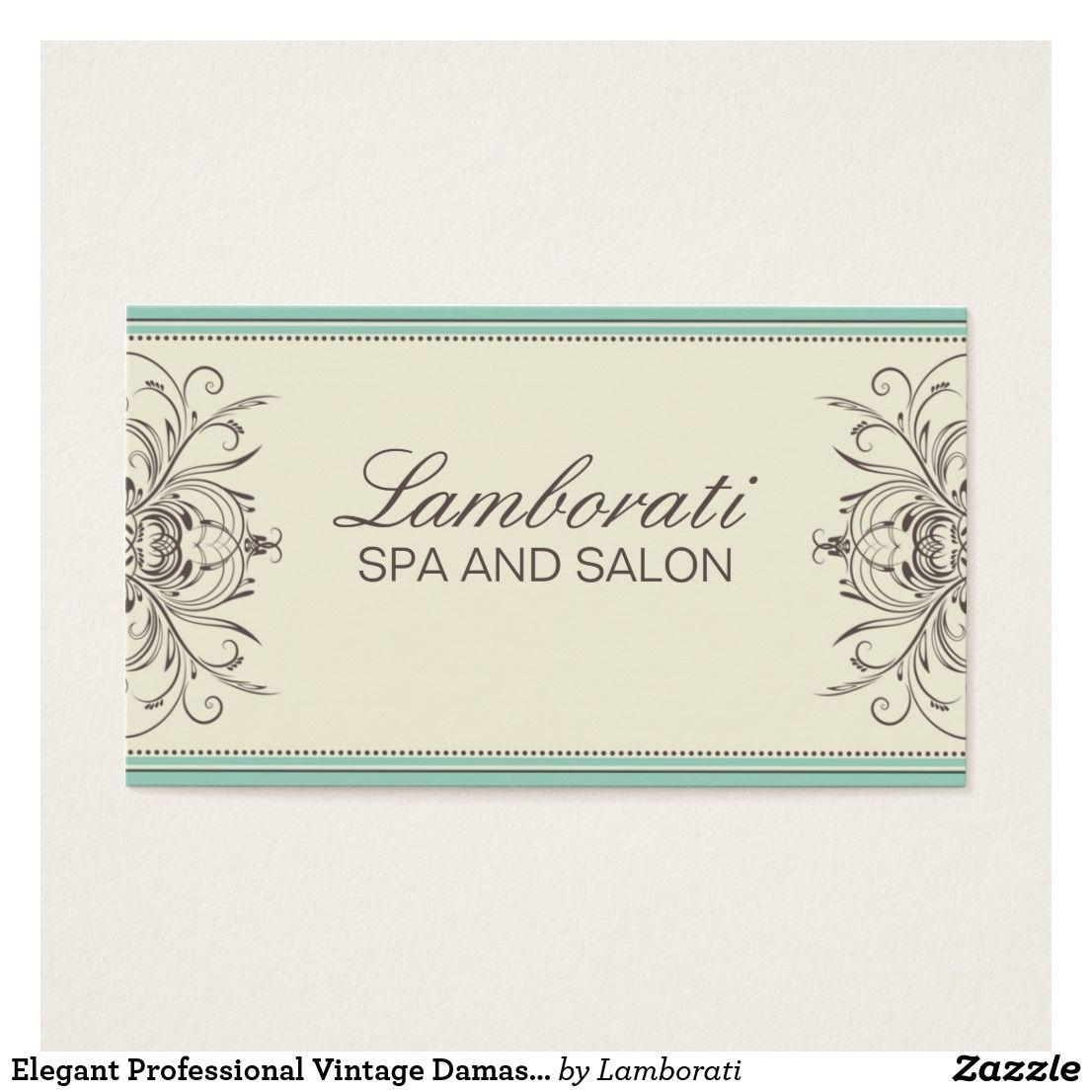 Elegant Professional Vintage Damask Art Deco Business Card ...