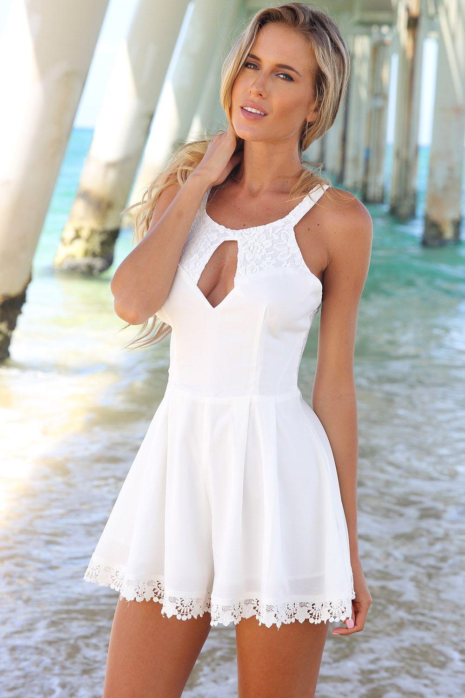 f2612463953 SABO SKIRT Pixie Playsuit - White - www.saboskirt.com