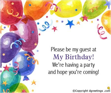 Guys U R Invited For My Bday Party So Plz Come Venue Aquagrill Fortune Select Metropolitan MGF Bias Godam Time 700pm Birthday Invite Message