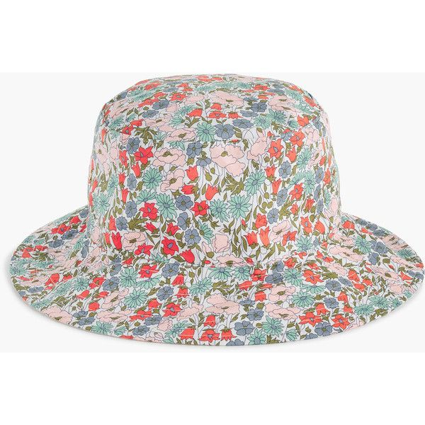 J Crew Bucket Hat In Liberty Poppy And Daisy Floral 35 Liked On Polyvore Featuring Accessories Hats Cotton Buc Outfits With Hats Hats Womens Bucket Hat