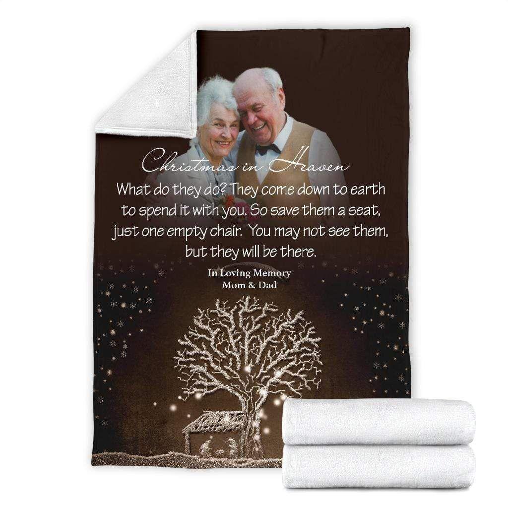 Christmas In Heaven - My Christmas Angel(s) Blanket - Large Fleece Blanket (80x60)