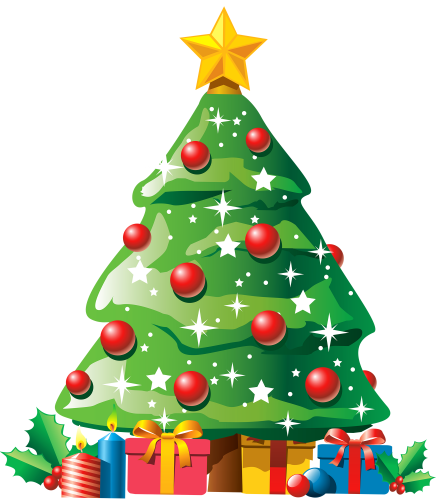 Christmas Tree With Gifts Png Clipart The Best Png Clipart Christmas Tree Drawing Christmas Tree Images Animated Christmas Tree