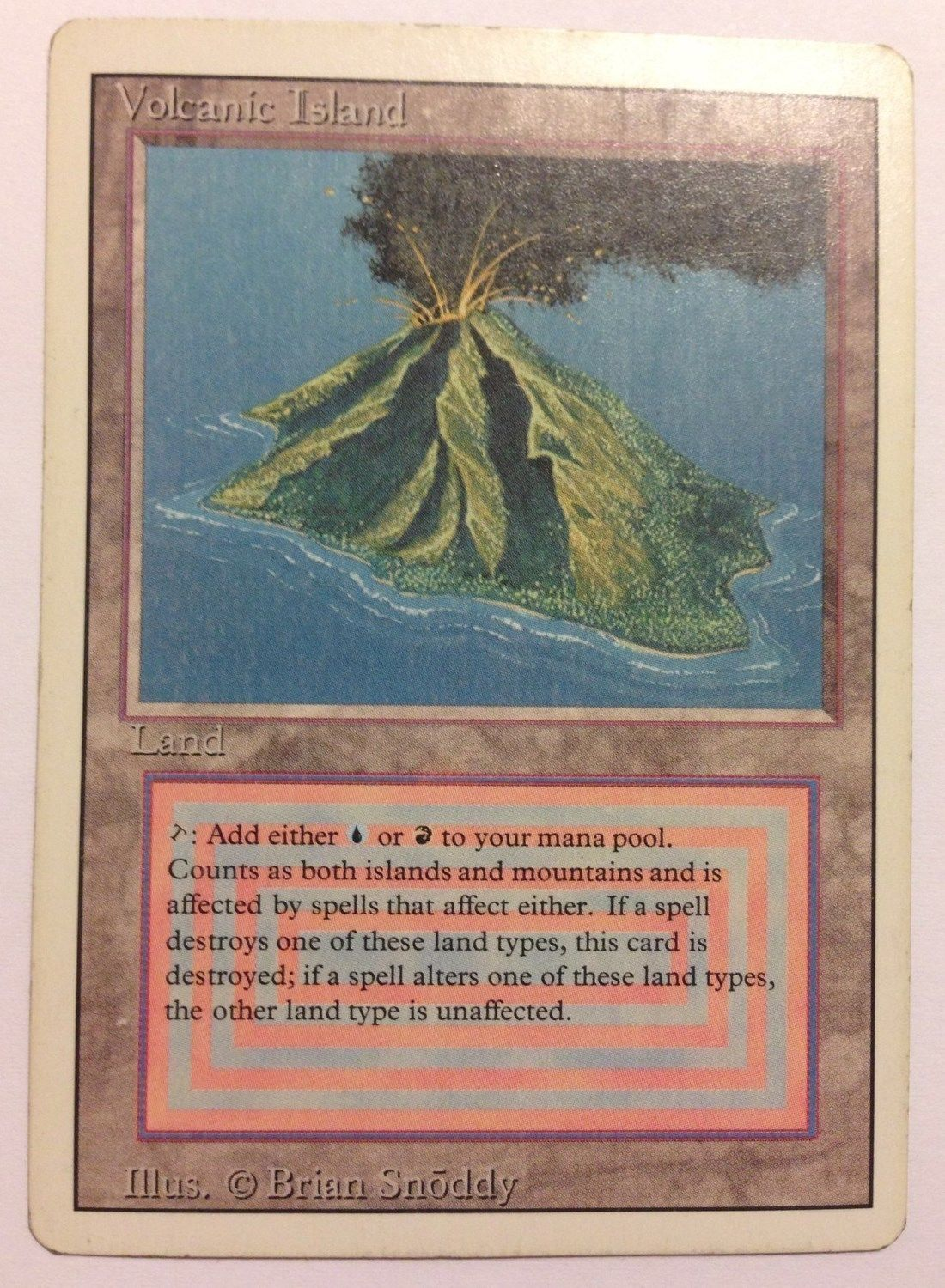Volcanic Island 3rd Edition/Revised Rare Magic cards
