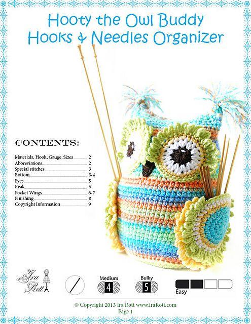 Hooty the Owl Buddy pattern by Ira Rott | olws. buhos- | Pinterest
