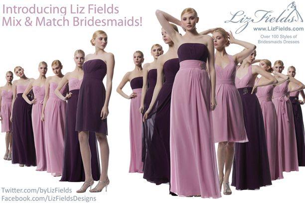 Introducing Liz Fields Mix   Match Bridesmaids   Contemporary BrideIntroducing Liz Fields Mix   Match Bridesmaids   Contemporary  . Liz Fields Wedding Dresses. Home Design Ideas