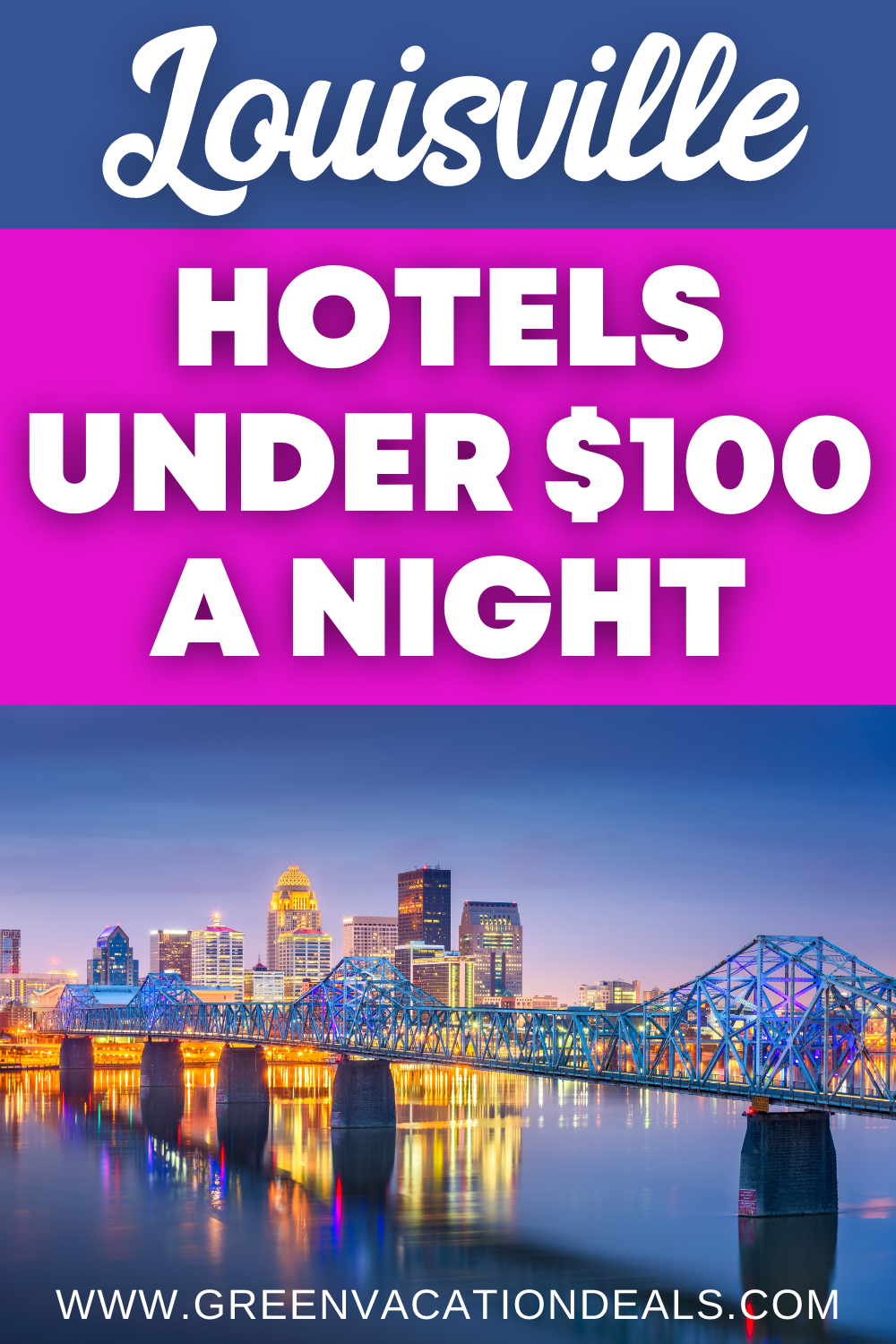 Cheap Lousiville, Kentucky nightly rates at Marriott, Holiday Inn, Hyatt, Hilton, Embassy Suites,Best Western in Downtown, Airport, Jeffersonville... Great travel hacks to save on your hotel stay for your next Lousiville trip. #Louisville #Kentucky #hoteldeals #hotelsale #traveldeals #travelsale #travelhacks #bourbon #KentuckyBourbon #citybreak #Southerntravel #Kentuckytravel #UStravel #USAtravel #traveltip
