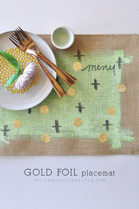 Can You Imagine An Entire Table Of These Elegant Gold Foil Placemats So Stunning