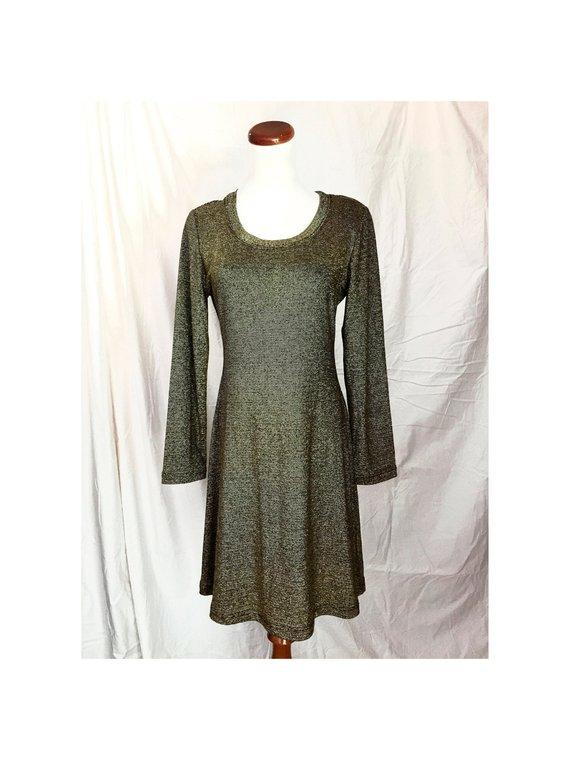 Vintage GOLD Lurex Dress b9687c866