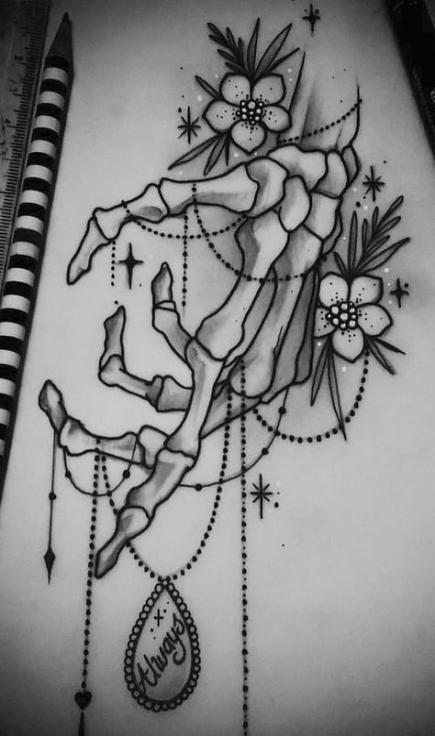 Drawing Skull Hand Tattoo Ideas 23 Ideas Drawing Tattoo