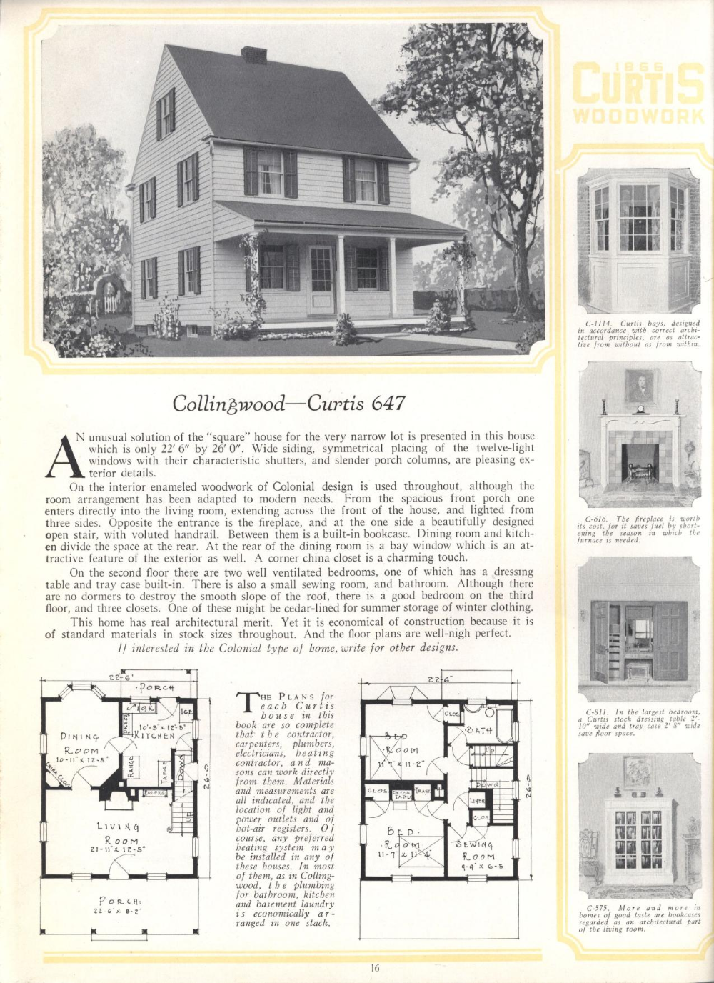 Better Built Homes Vol Xii Curtis Manufacturing Co Free Download Borrow And Streaming Internet Archive Colonial House Plans Garage House Plans Architectural Design House Plans