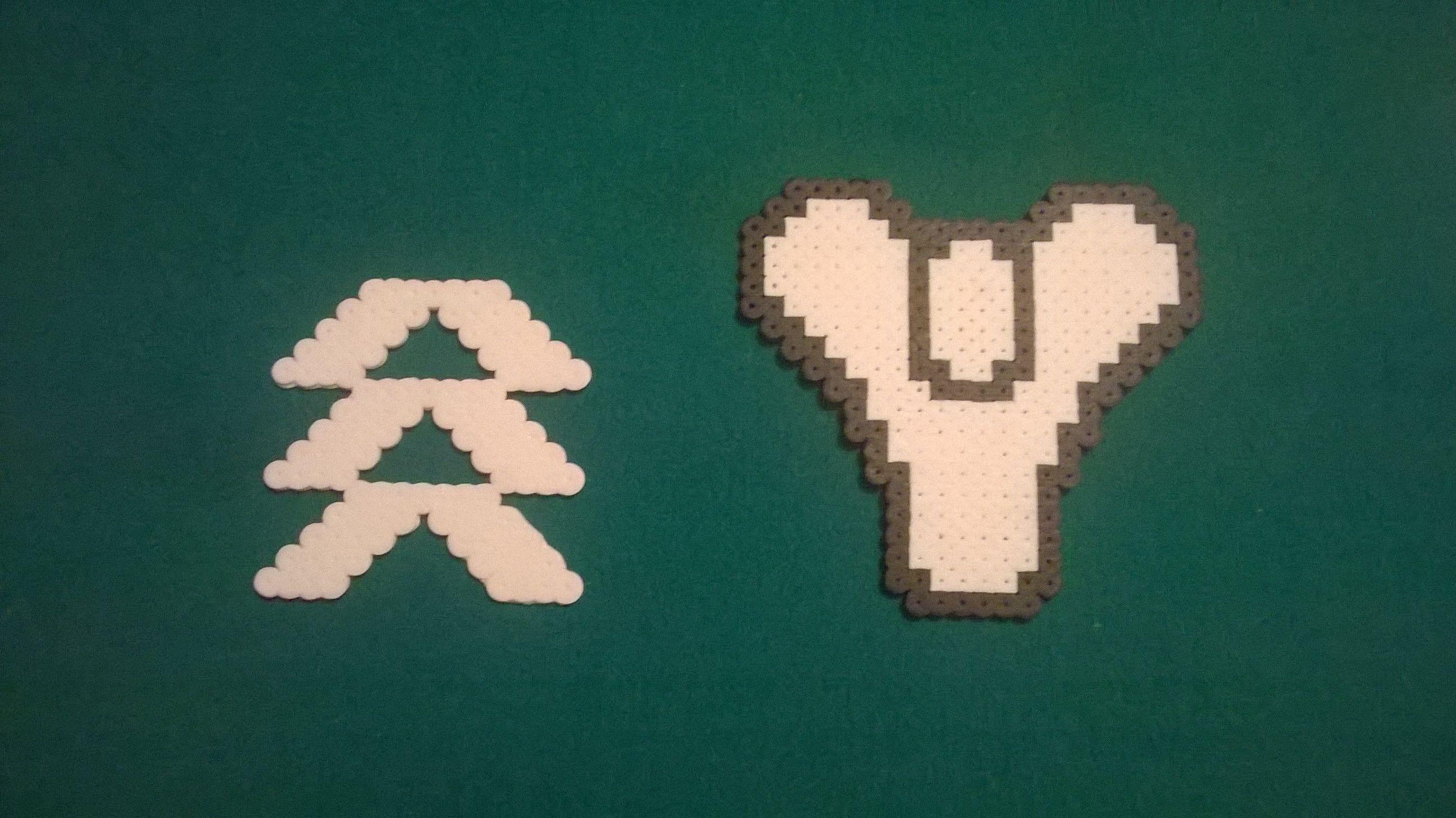 Hunter and Destiny Logo - Perler Bead Destiny www etsy com