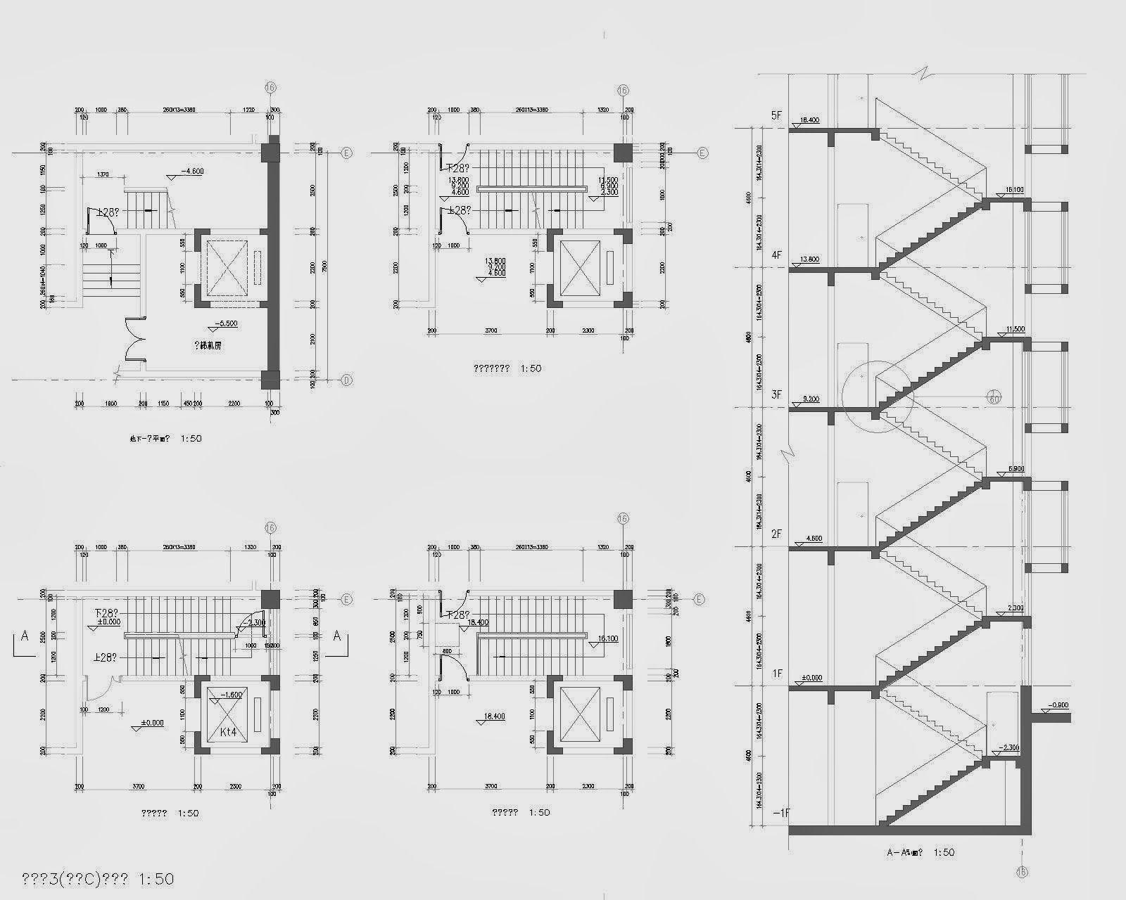 Journal3 ascenseurs et cages d 39 escalier diff rentes for Coupe verticale d un batiment