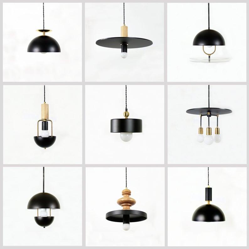 Black Modern Pendant 10 Lamp Black Ceiling Light Modern Lighting